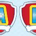 Alfabeto en el Escudo de Paw Patrol.