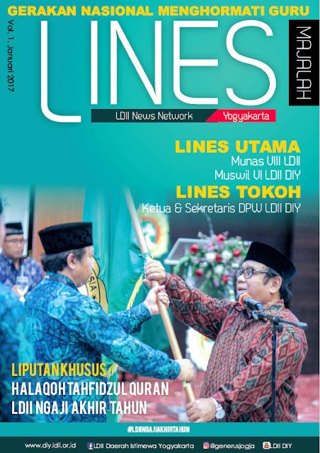 Cover Depan Majalah LDII News Network (LINES) DIY Edisi Januari 2016