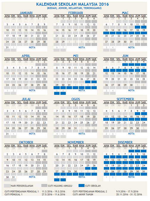 Kalendar Sekolah Malaysia 2016 PDF