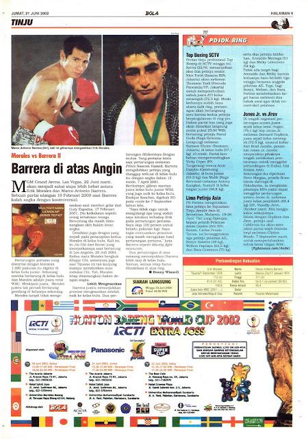 MORALES VS BARRERA II BARERRA DIATAS ANGIN