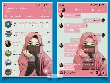 Download Tema YoWa My Theme Pink For YoWhatsApp Mod Apk Keren Bro