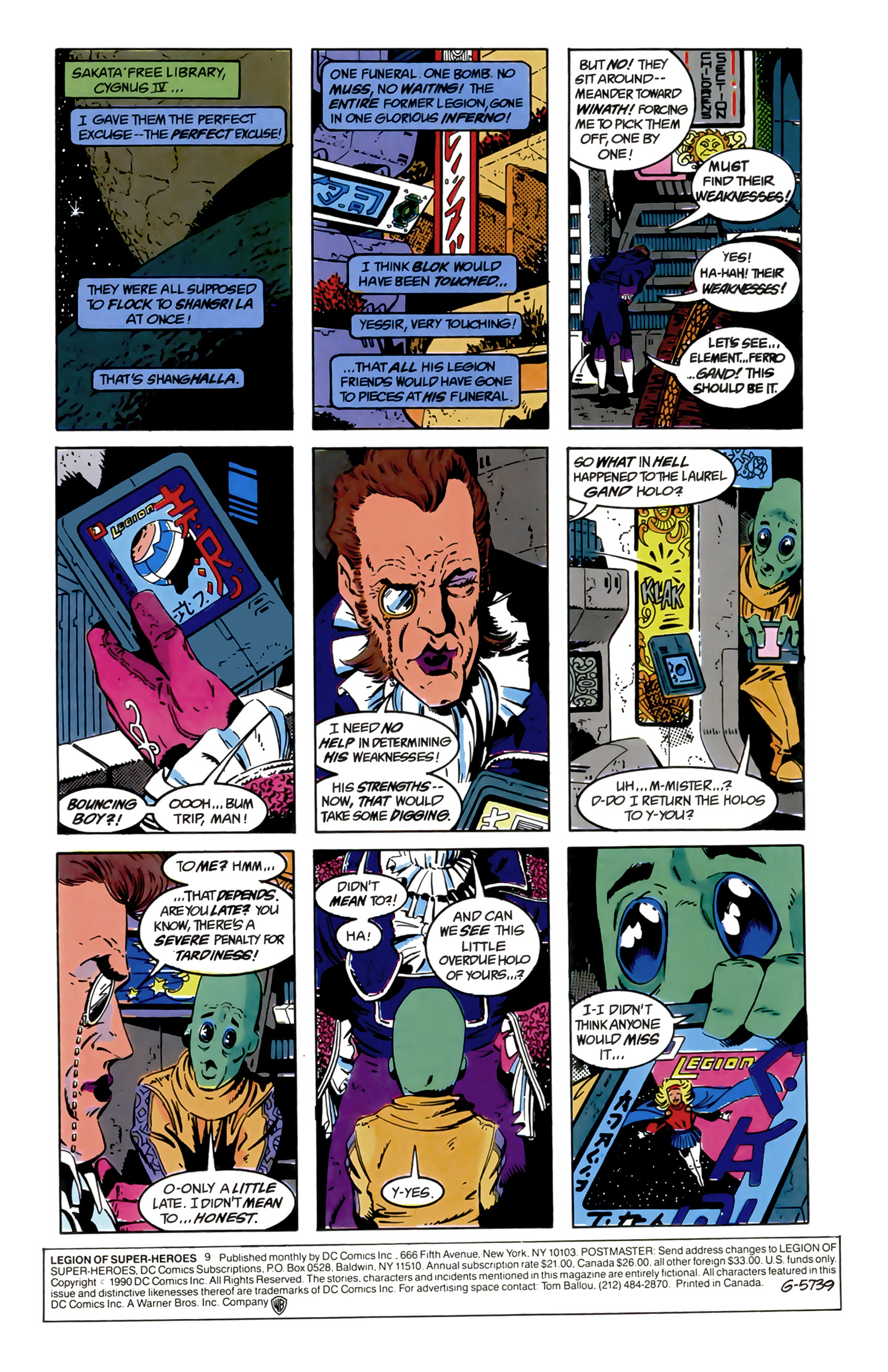 Legion of Super-Heroes (1989) 9 Page 1