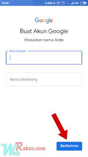 Cara membuat akun gmail baru di hp android
