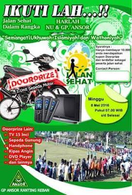 Event: Batang | 8 Mei 2016 | GP Ansor Ranting Reban | Jalan Sehat Harlah NU & GP.Ansor