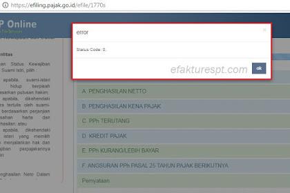 e-Filing Error Status Code 0