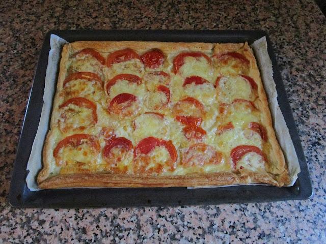 Tarta de tomate y  mozarella