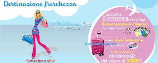 Logo Con Carefree premi sicuri e vinci Trolley e voucher vacanza