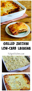 Grilled Zucchini Low-Carb Lasagna with Italian Sausage, Tomato, and Basil Sauce (Gluten-Free) [from KalynsKitchen.com]
