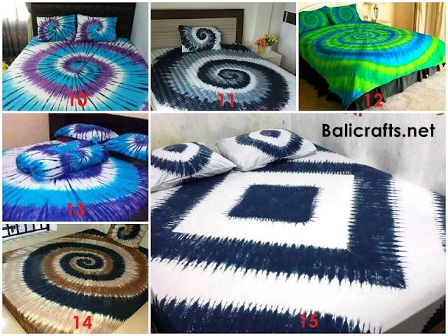 Seprai Bali Motif Tie Dye Ukuran 120 X 200