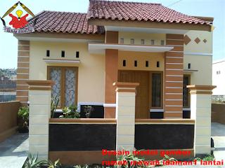 desain rumah mewah 1 lantai