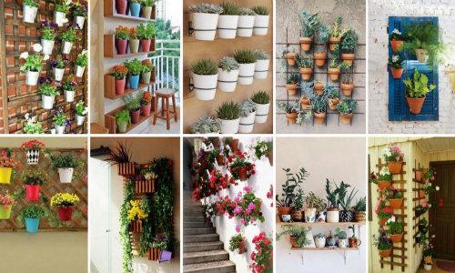 Ιδέες & τρόποι για να τοποθετήσετε γλάστρες σε τοίχους