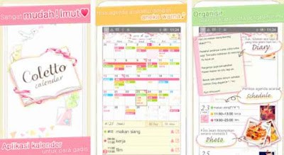 aplikasi kalender android lucu imut cantik