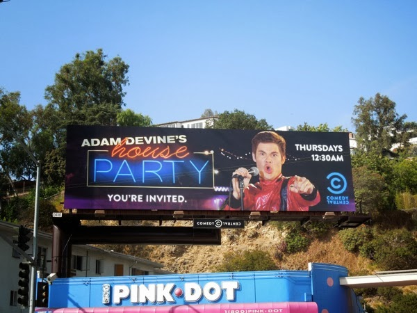 Adam Devines House Party Comedy Central billboard