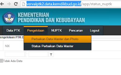 gambar cara Verval GTK Untuk Usul NUPTK Terbaru Dari PDSPK