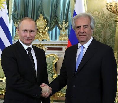 Vladimir Putin, Tabare Vazquez.