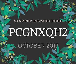 Mitosu Crafts Stampin' Reward Code for October 2017
