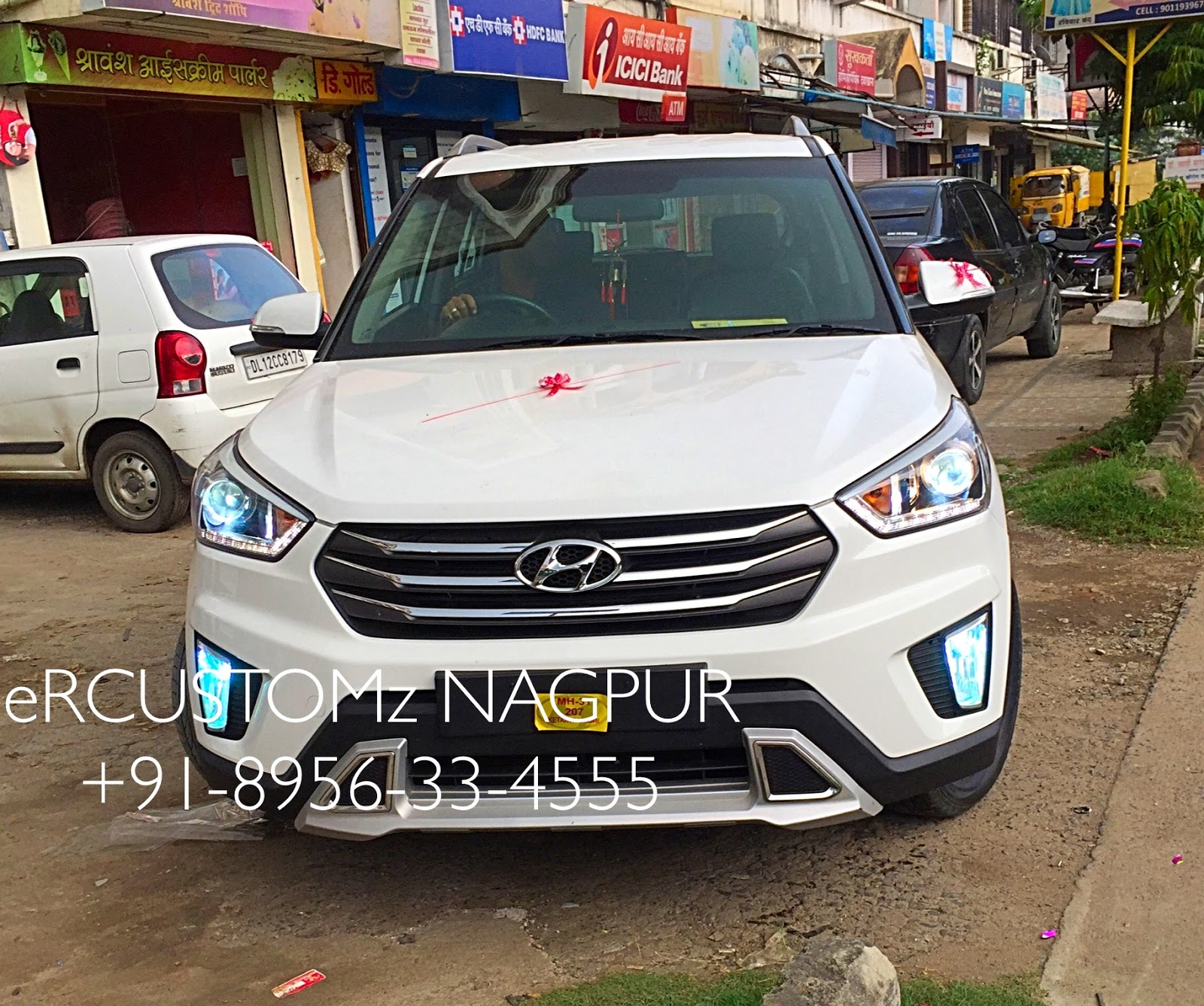 spied suv unveiled compact with india led car hyundai news taillights
