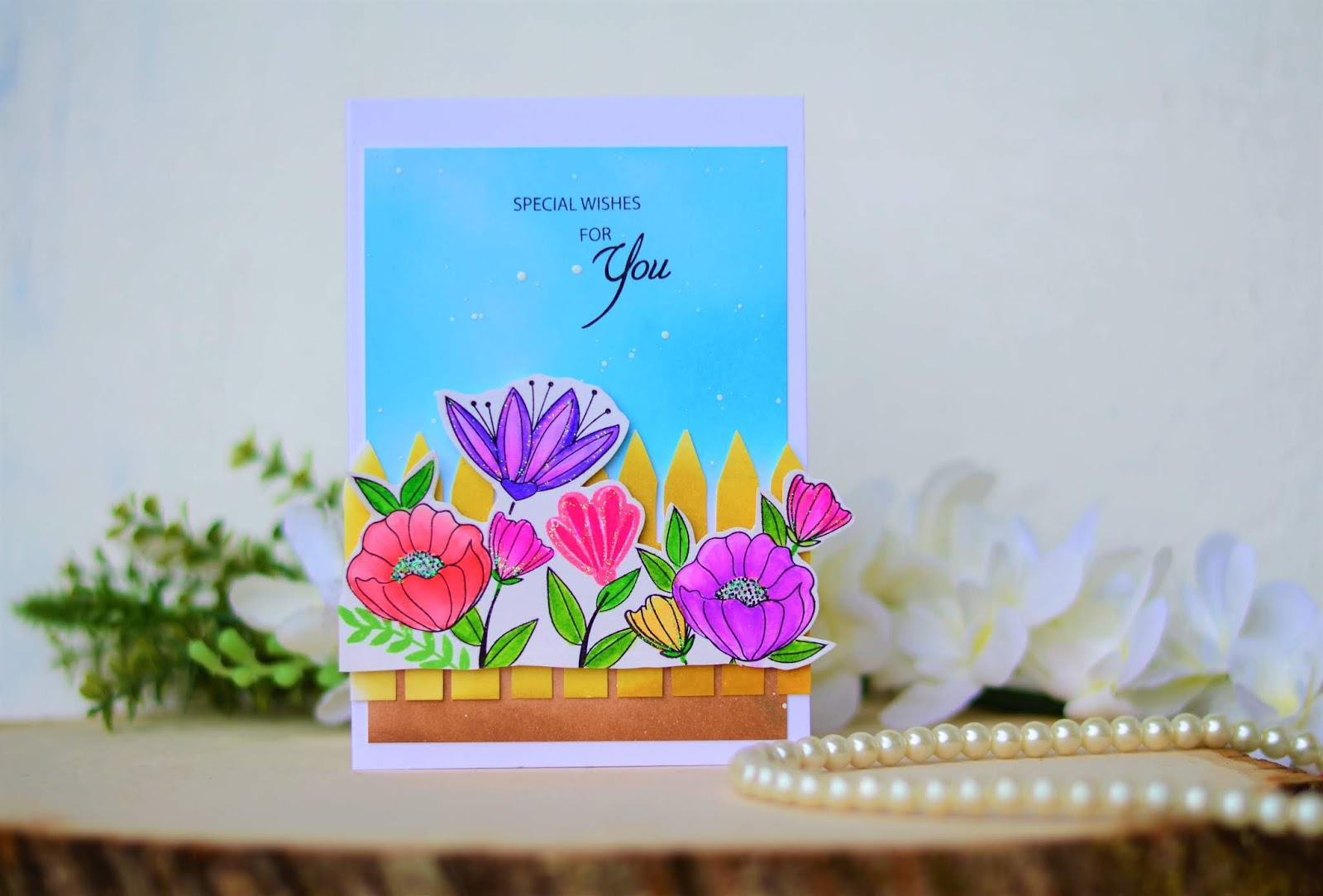 Pretty Passion Floral Cards With Tubby Craft Stamps