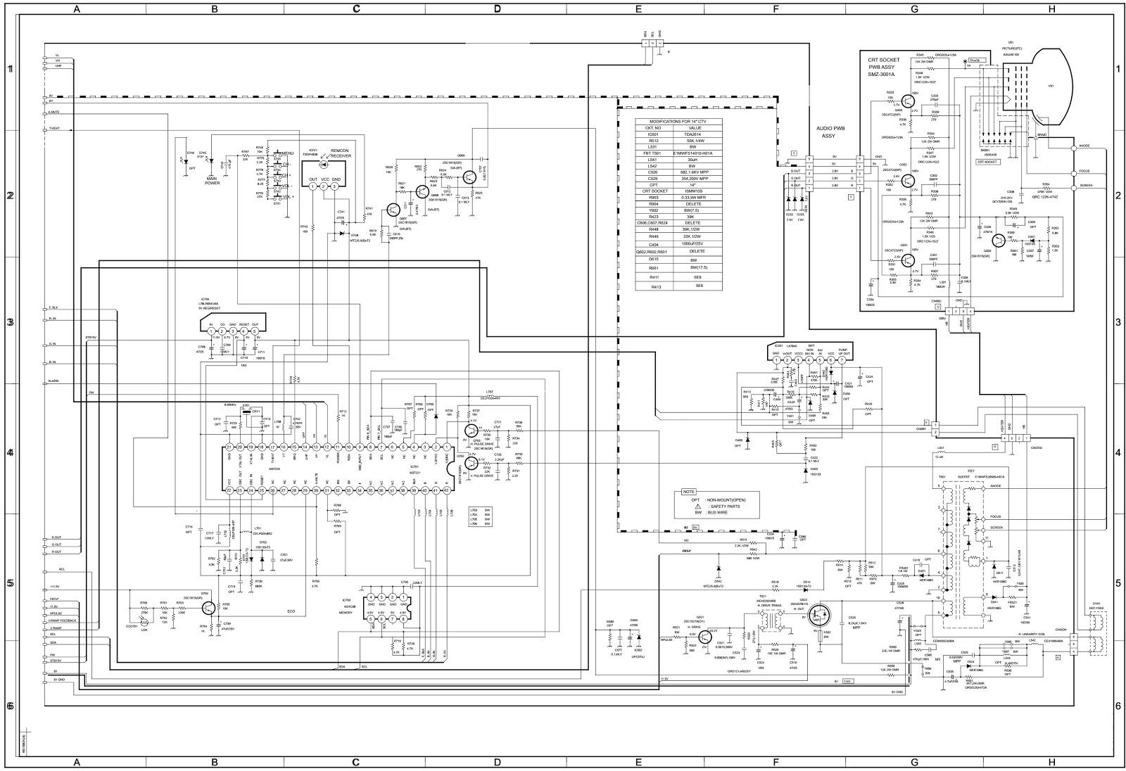 medium resolution of b w tv circuit diagram wiring diagram repair guides b w tv circuit diagram