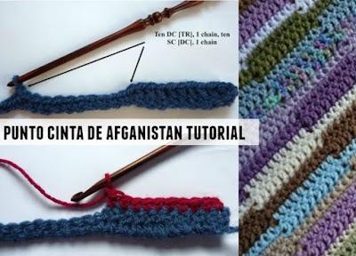 Como tejer cinta de afganistán