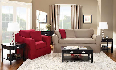 Sure Fit Slipcovers Shades Of Red For An Instant Warm And