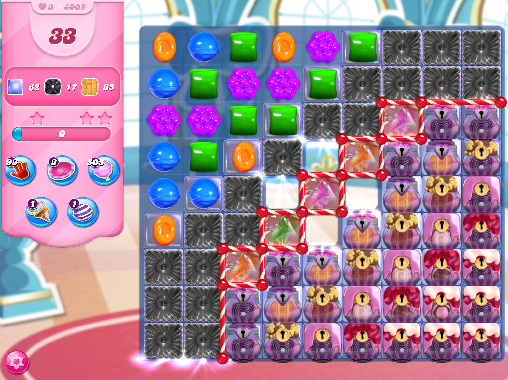Candy Crush Saga level 4008