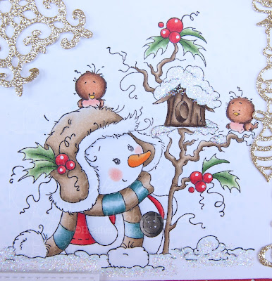 Heather's Hobbie Haven - Miss Frosty Card Kit