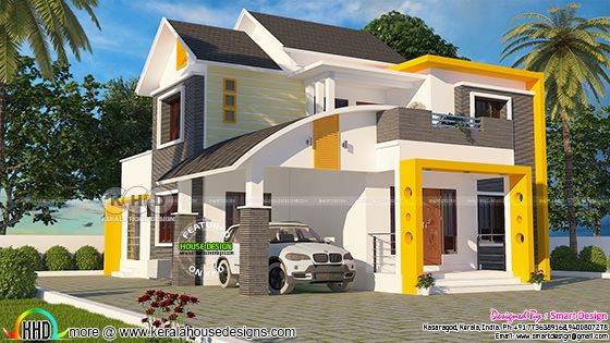 House plan by Smart design from Kasaragod