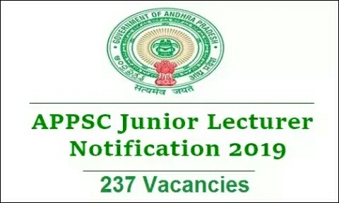 APPSC Recruitment 2019 - 237 vacancies