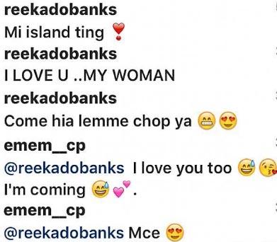Reekado Banks and his woman Emem Inuikim get naughty on IG