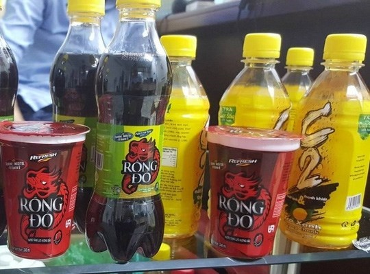 C2 green tea, Rong-Do energy drink in Vietnam