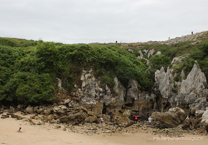 Playa Gulpiyuri en Asturias