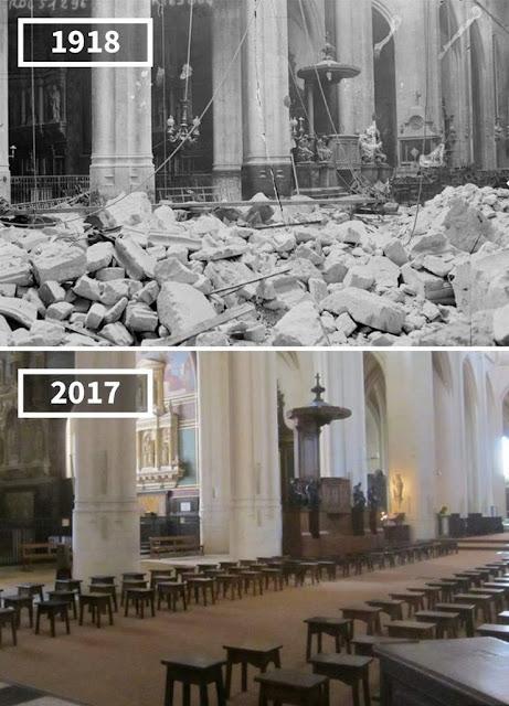 Antes y después Iglesia de Saint-Gervais-Saint-Prote, París