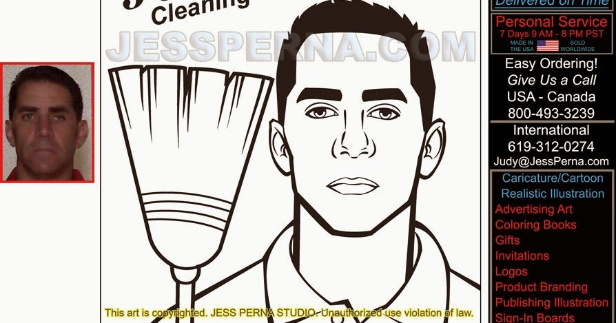 How To Order Ad Cartoons And Caricatures From A Freelance Illustrator: Garage  Cleaning And Organizing Service Cartoon Flier, Business Card