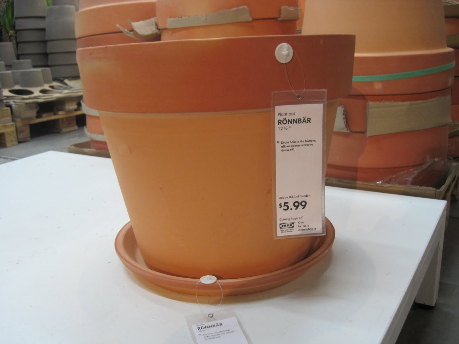 Ikea Planters Large Do It Yourself Duo Flower Pots