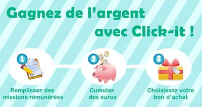 Remplir des missions rémunérées sur Click-it