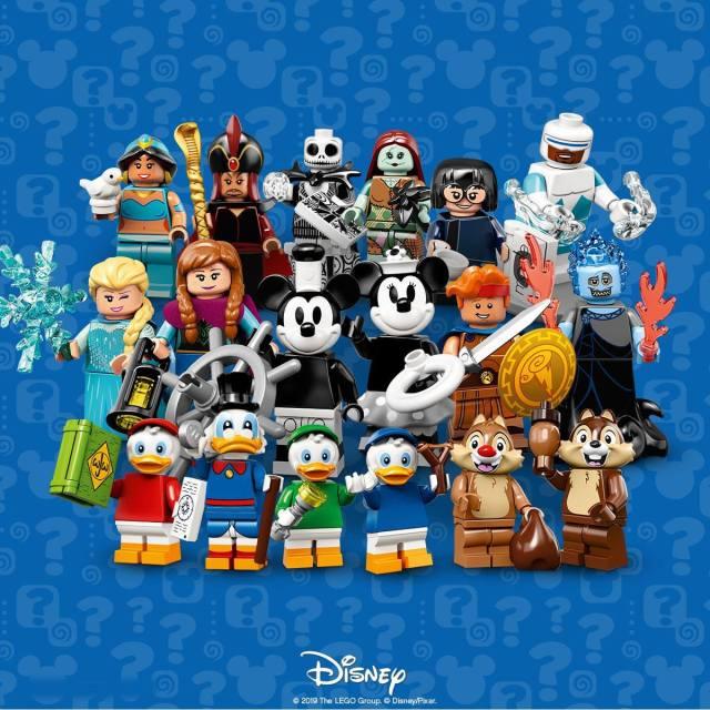 Minifigures Series 2 com 18 personagens da Disney