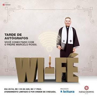 Padre Marcelo Rossi lança livro no Partage Shopping Betim
