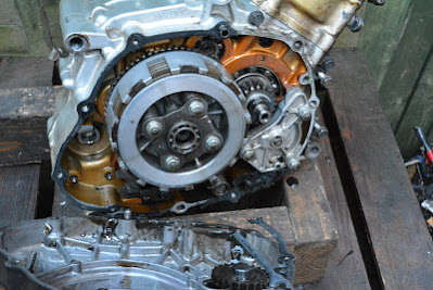 Honda CBR 125 internal engine oil filter replacement location