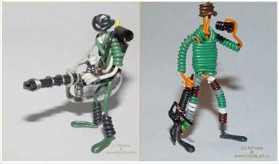 Arte con cables reciclados