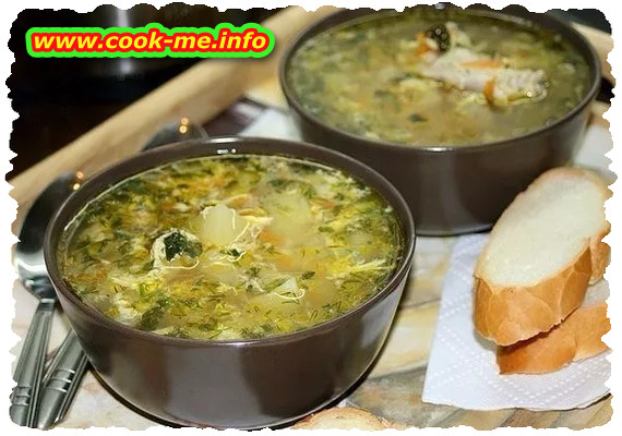 Vegetables soup with cabbage juice