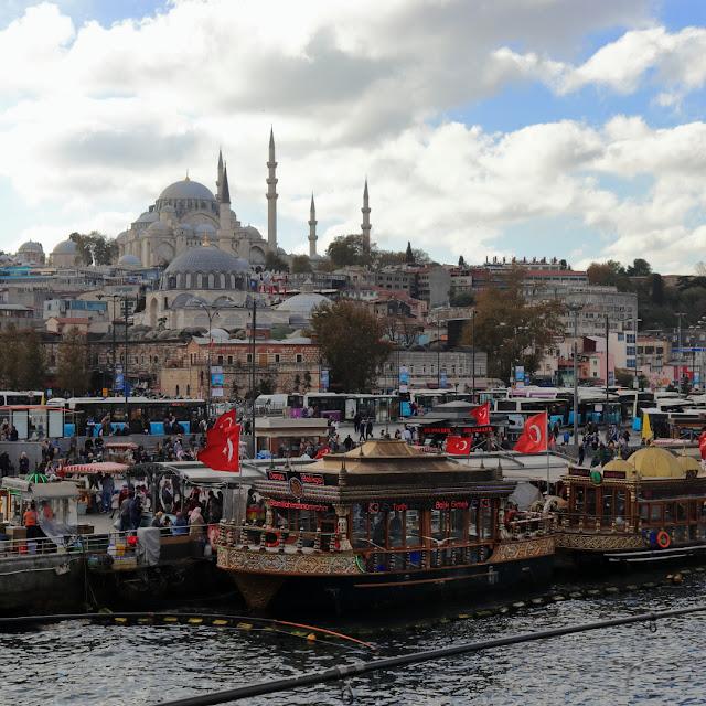 Istanbul, panorama dal ponte Galata Bridge
