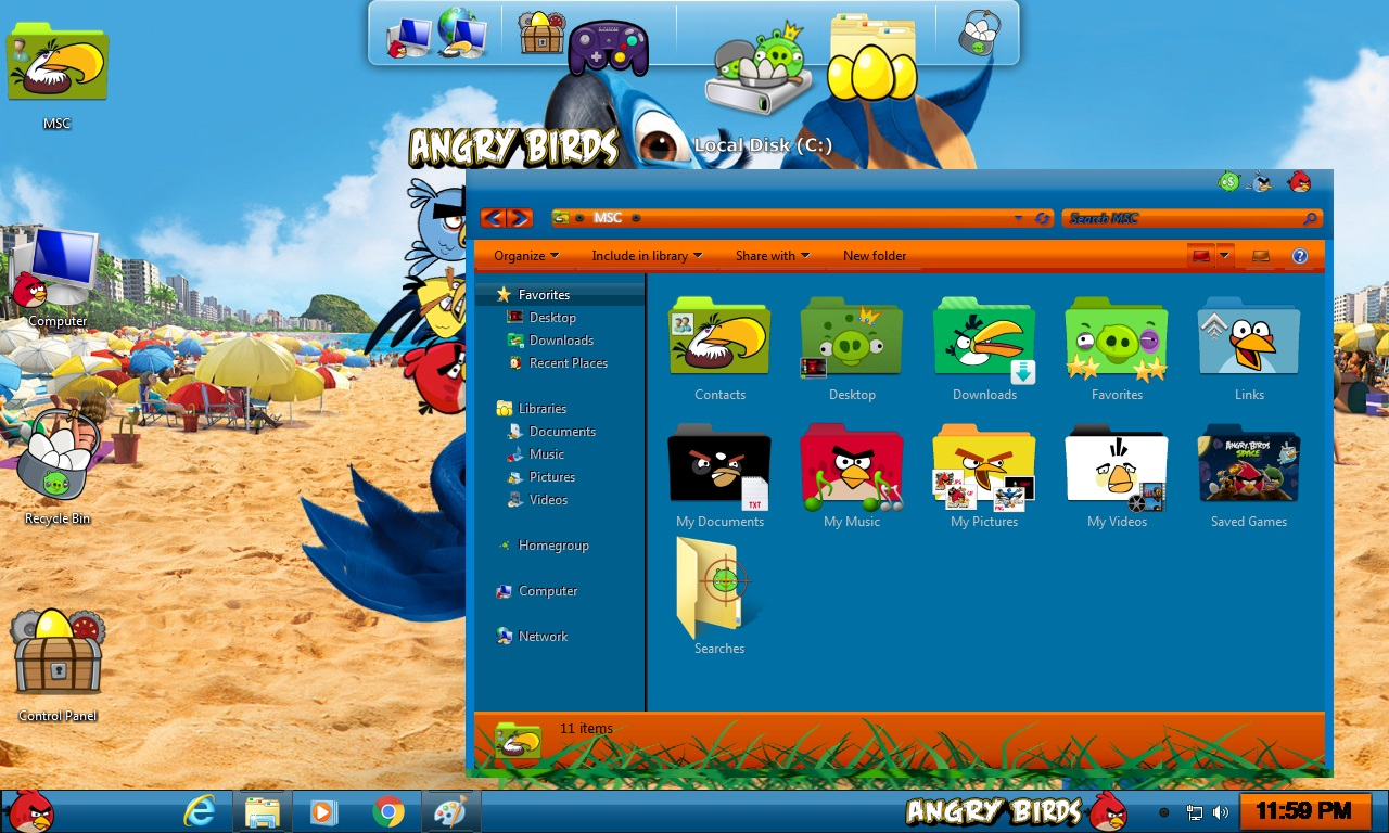 How to install Angry Birds Rio Transformation Pack on Windows 10