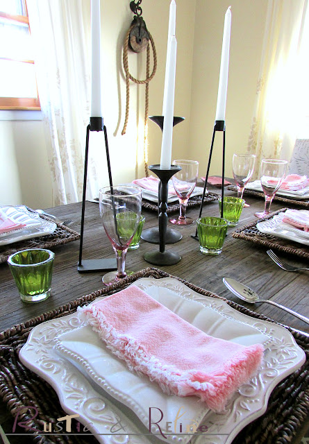 Pink & White Spring Tablescape Ideas @ Rustic-refined.com