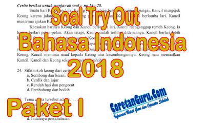 Download Soal Try Out SD Kelas 6 Tahun 2018 Pelajaran Bahasa Indonesia Paket I