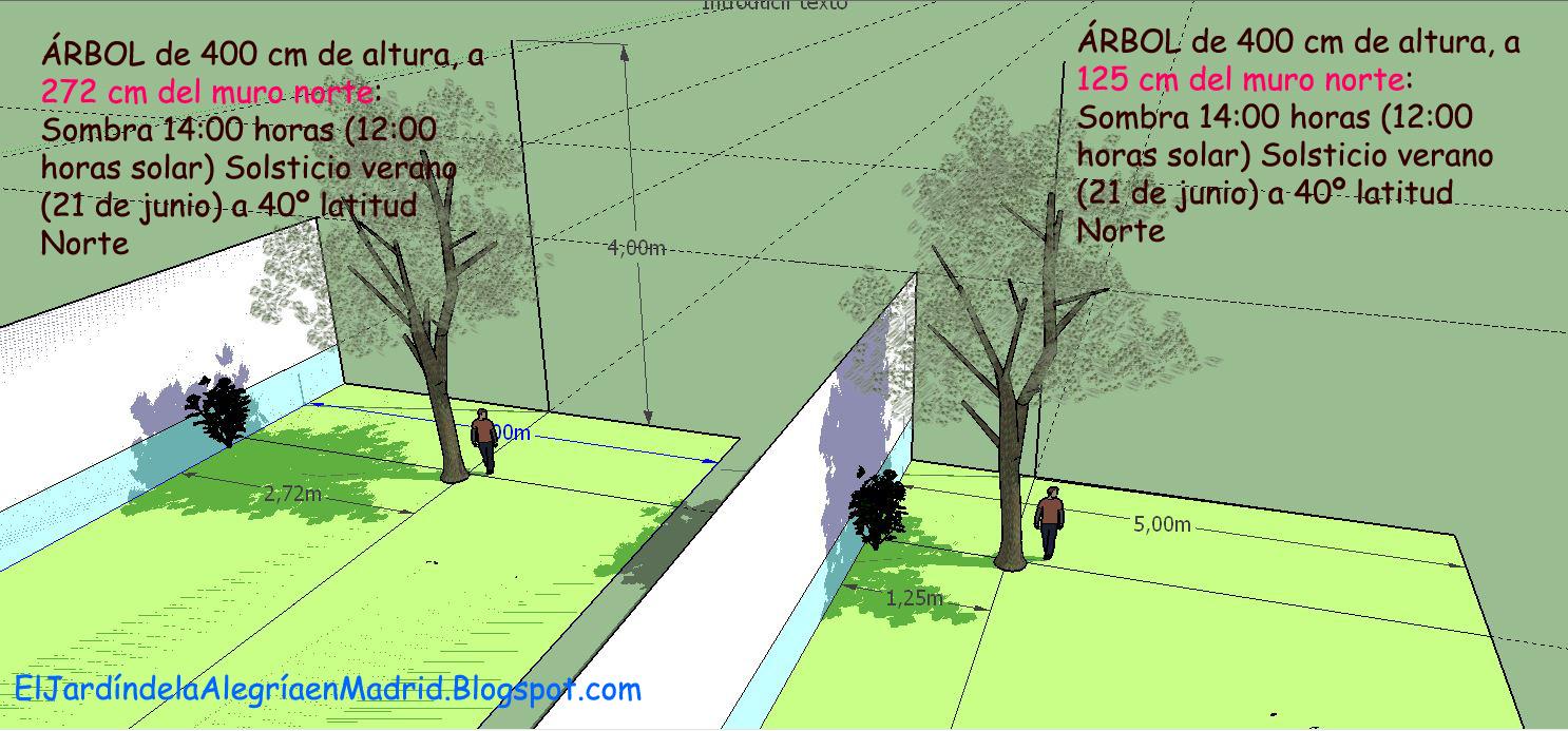 El jard n de la alegr a calculadora de sombras y otros for Arboles para plantar en verano