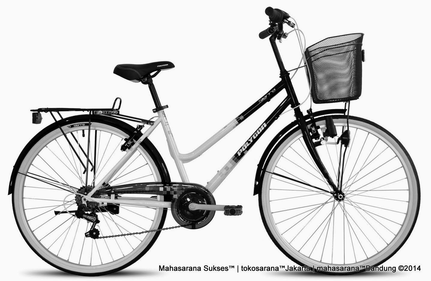 City Bike Polygon Sierra Rangka Besi 6 Speed 26 Inci