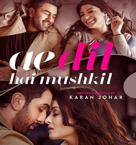 Aishwarya Rai Bachchan, Ranbir Kapoor, Anushka Sharma New Upcoming movie Ae Dil Hai Mushkil poster Release Date: Diwali 2016.