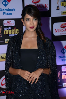 Actress Lakshmi Manchu Pictures in Black Dress at Mirchi Music Awards South 2015  0001