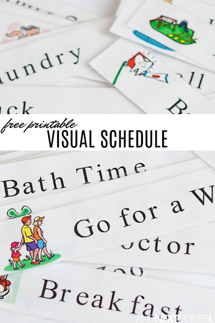 Free printable visual schedule for kids